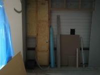 Uusi huone ja oviaukko olohuoneeseen.